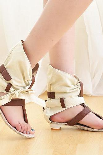 Hollow Out Roman Casual Thong Sandals