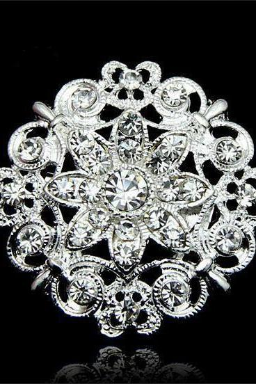 Luxury Crystal Flower Brooch
