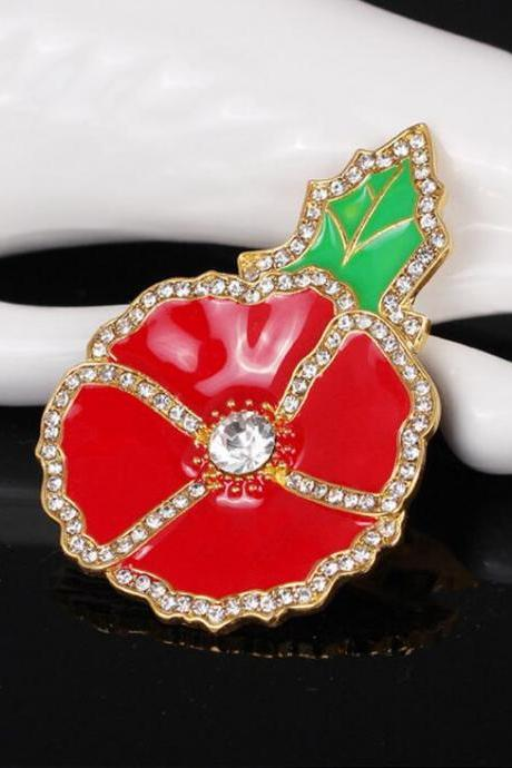 The new cartoon apple fruit Brooch
