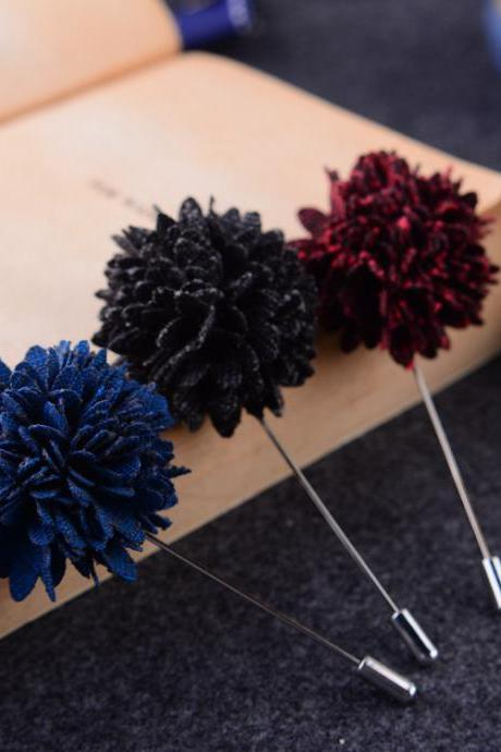All-match accessories cloth simulation flower brooch