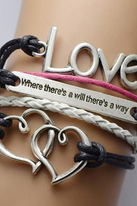 Double Heart LOVE Multilayer Bracelet