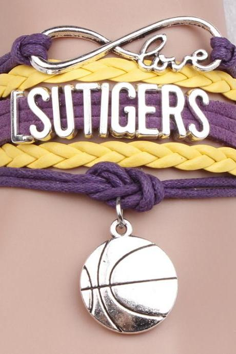 Fashion Letters Basketball Woven Multilayer Bracelet