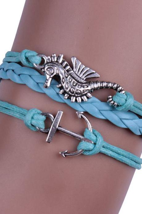 Cute Sea Horse Multilayer Woven Bracelet
