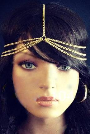 Three Layers Metal Chain Simple Hair Accessories