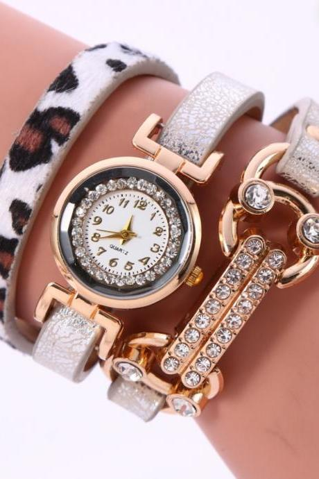 Personality Leopard Print Bone Watch