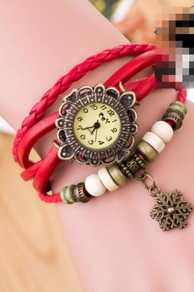Fashion Snowflake Multilayer Watch