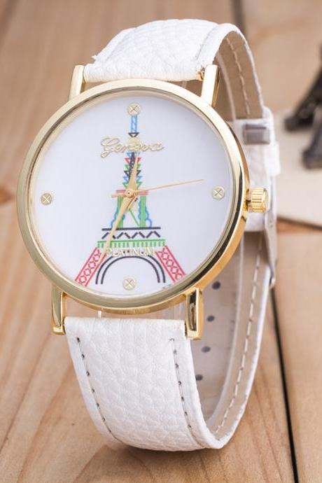 Simple Fashion The Eiffel Tower Watch