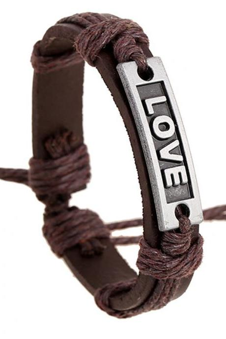 LOVE Couples Leather Bracelet