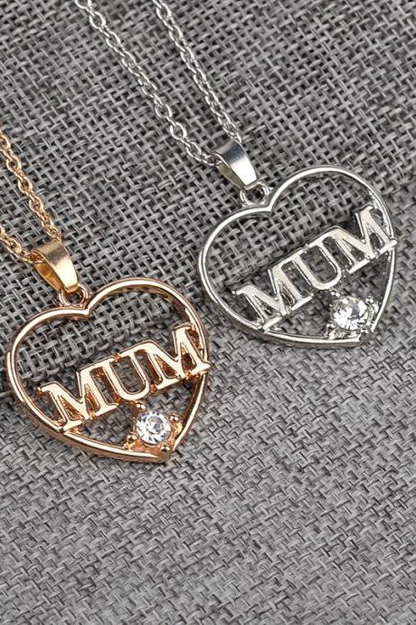 The new mother's Heart Pendant Necklace and white goods