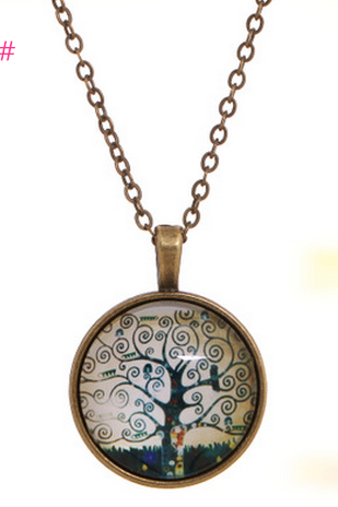 The tree of life time precious retro bronze Chain Necklace Pendant
