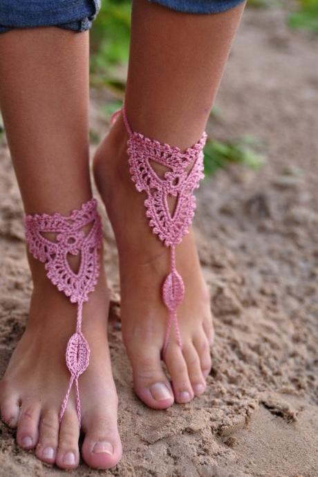 The explosion of the manual hook flower Yoga Anklet