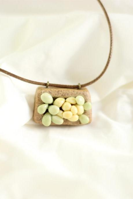 Sen simple ceramic Long Necklace