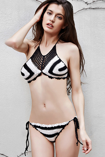 Knitted Hand Hook Beach Two Pieces Swimwear