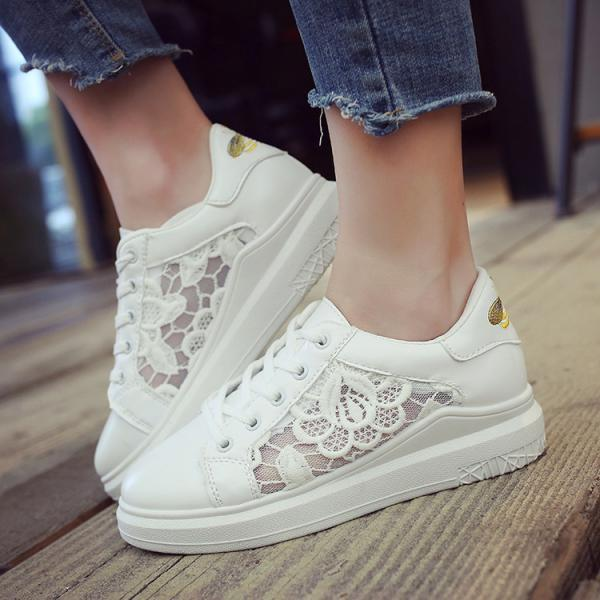 Lace Hollow Out Platform L..