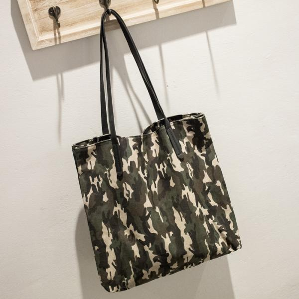 Personality Camouflage Pattern Women Shoulder Bag