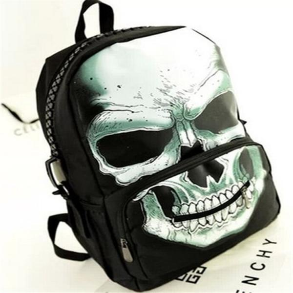 Distinctive Skull Design Fluorescence Backpack