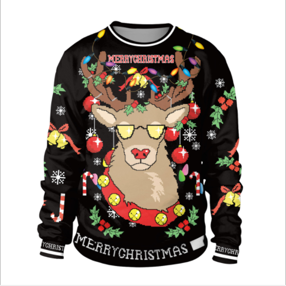 Print Scoop Women Christmas Reindeer Print Sweatshirt