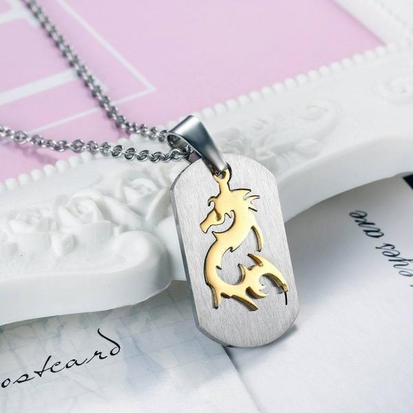 Big Soldier Brand Dragon Design Pendant Necklace
