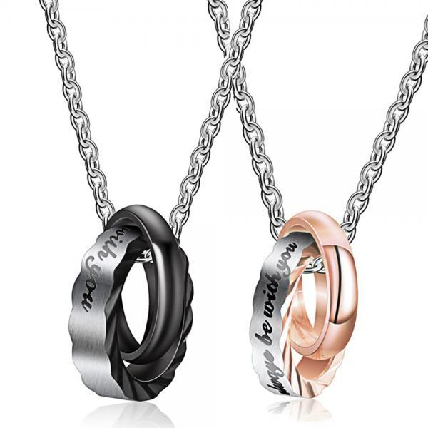 Personality Set With Diamond Titanium Steel Necklace