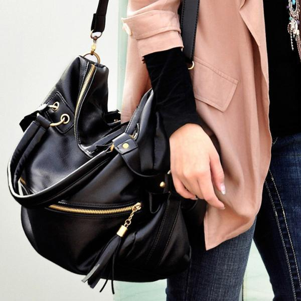 Tassel Large Capacity Shoulder Bag Handbag