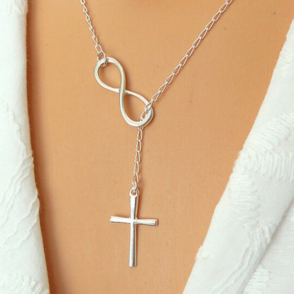 Eight Cross Shape Pendant Necklace