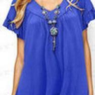 Doll Collar Plus Size Casual Short Sleeves Blouse