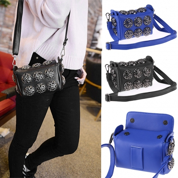 Korean Stylish Cool Personality Fashion Rivet Bag Shoulder Bag Handbags Cross Bags