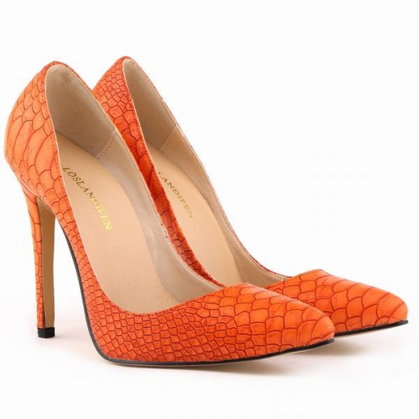 Snake Print Pointed-Toe High Heel Stilettos