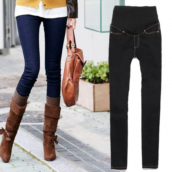 Ladies Fashionable Skinny Maternity Jeans