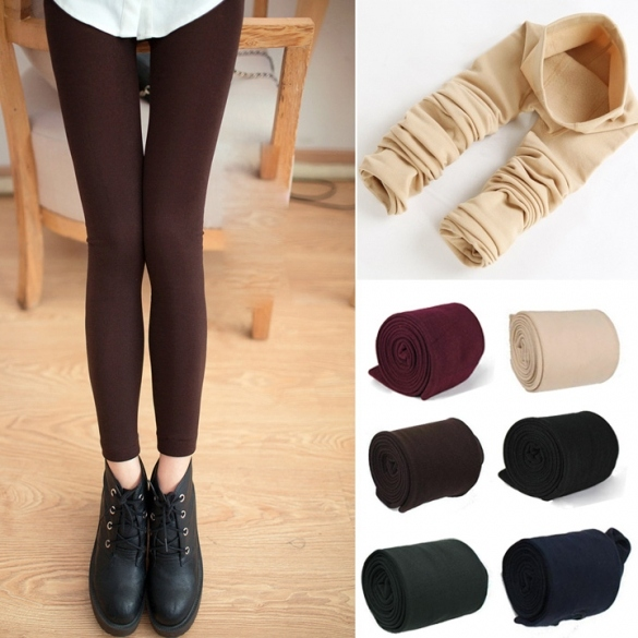 New Women's Warm Winter Skinny Slim Leggings Stretch Pants Thick Footless Tights