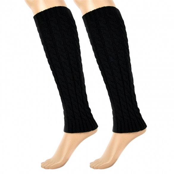 Women's Knit Crochet Winter Leg Warmer Leggings Socks