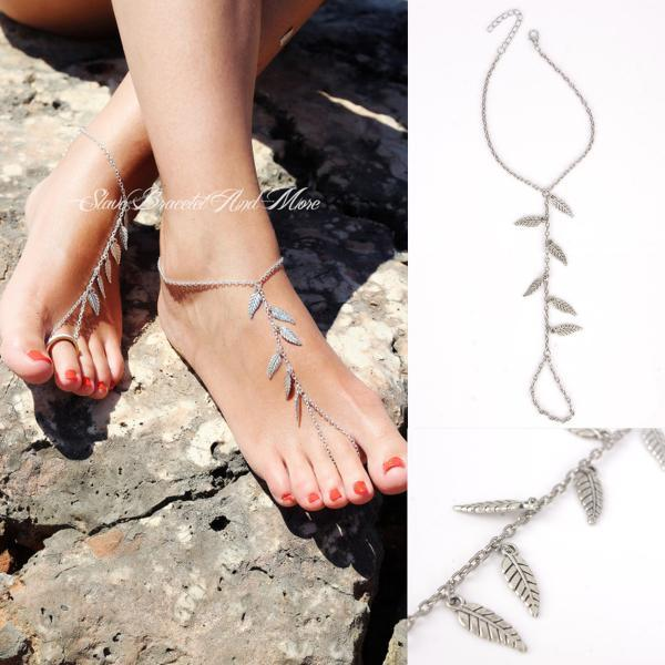 Leaves Tassel Beach Anklet