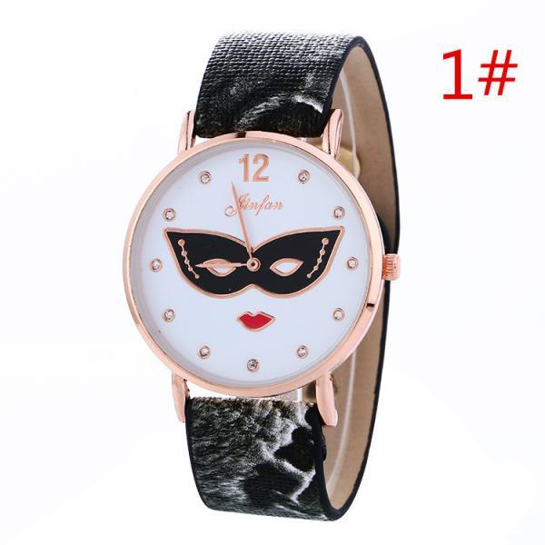 Unique Print Mask Women Watch