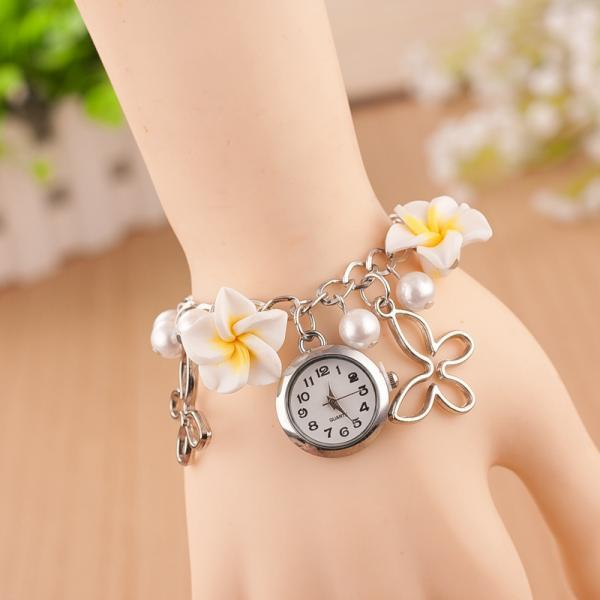 Flower Pearl Butterfly Watch