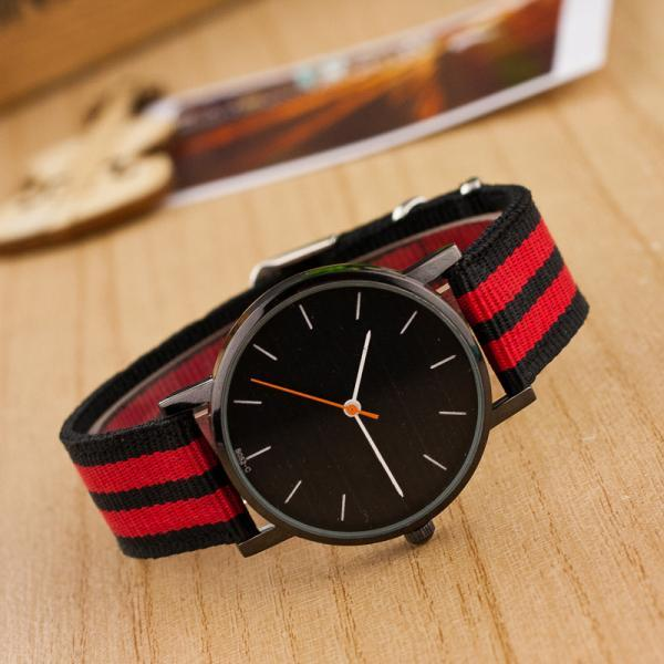 Casual Nylon Stripe Watch