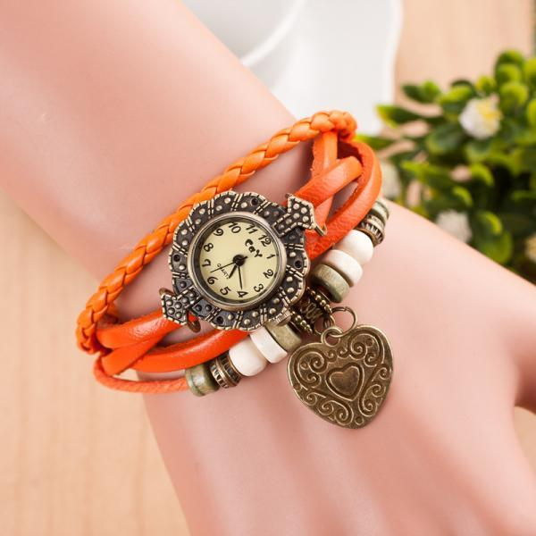 Retro Style Heart Double Arrow Watch